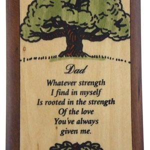 Handmade Wooden Dad Box Handcrafted Storage Tree